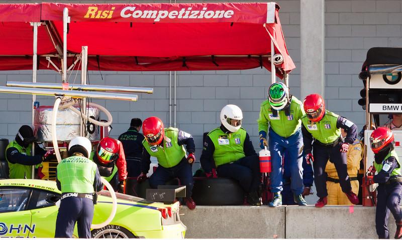 Risi Competizione Pit Stop and Driver Change for Krohn Car