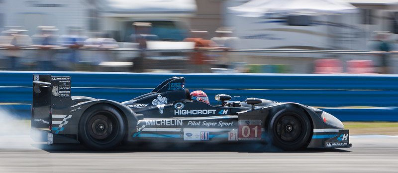 Pagenaud locks up  Patrón Highcroft Racing HPD ARX-01c entering turn 7 haripin