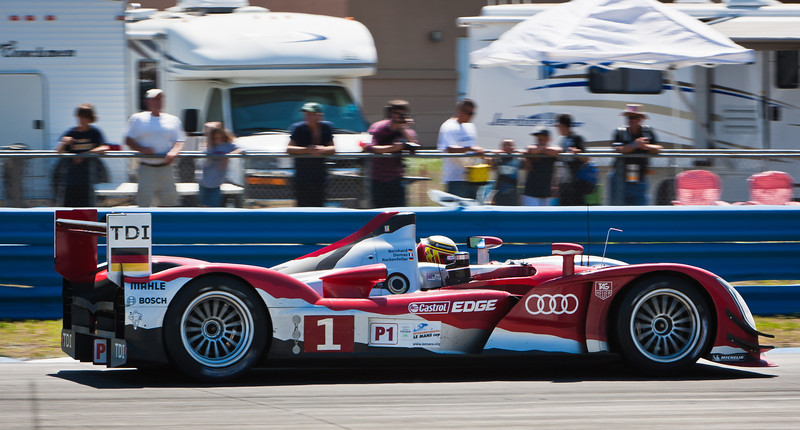 Timo Bernhard enters Haripin in Audi R15+ #1