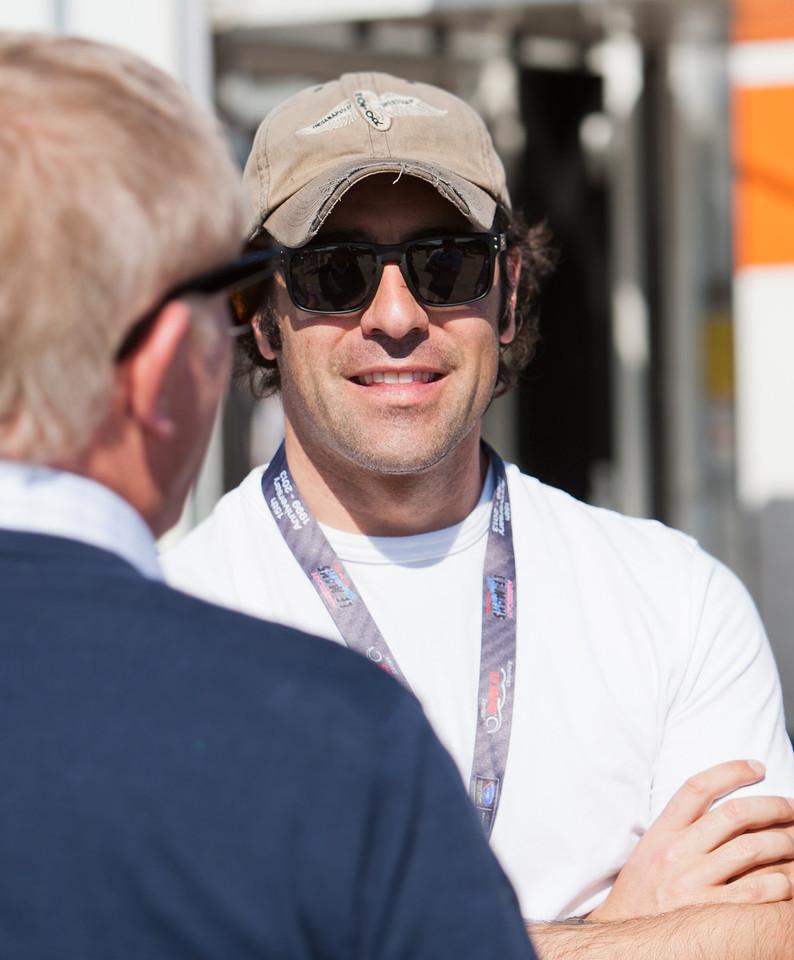 Dario Franchitti in paddock