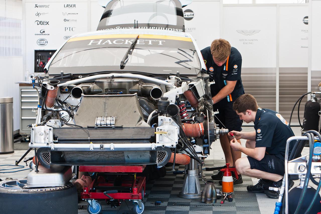 Aston Martin Racing crew services Vantage GT entry