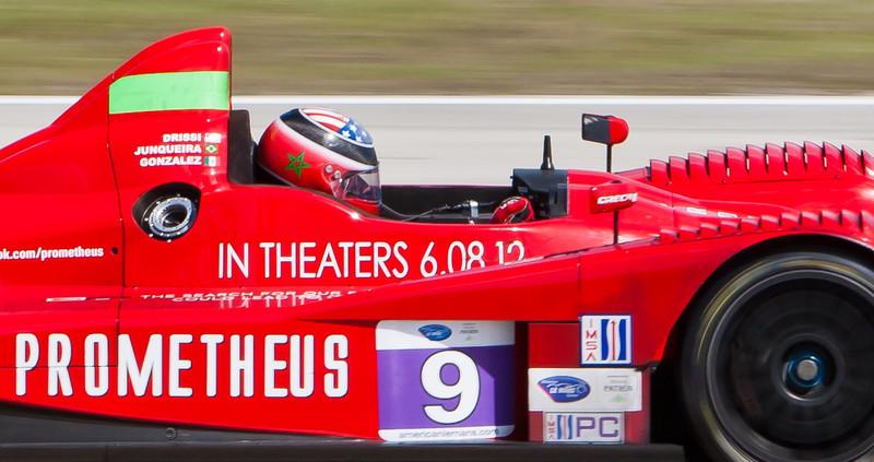 Tomy Drissi Piloting RSR Racing ALMS PC Oreca FLM09 Drissi/Junqueira/Gonzalez