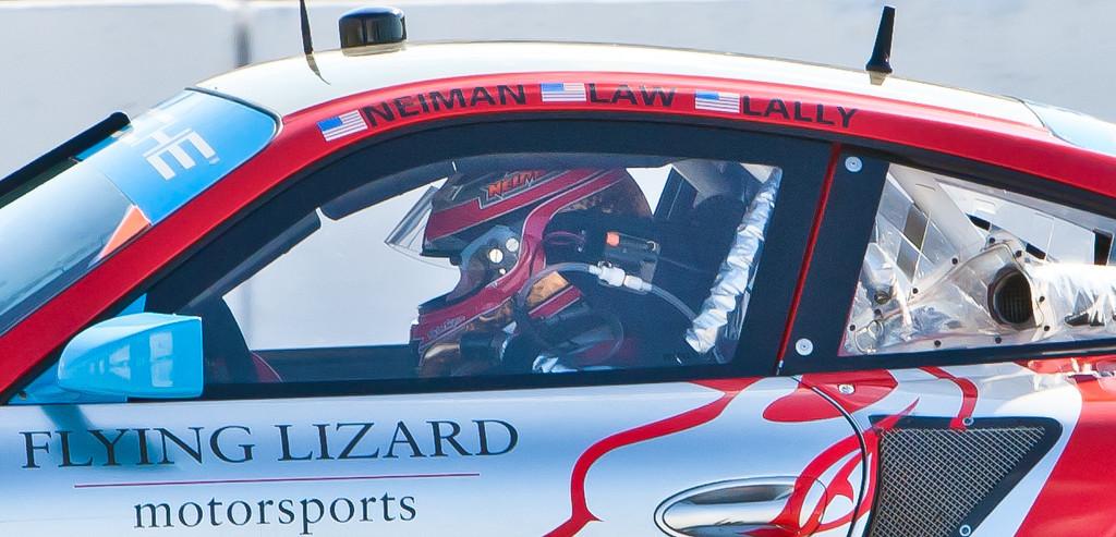 Seth Neiman driving Flying Lizards Porsche GT3 RSR