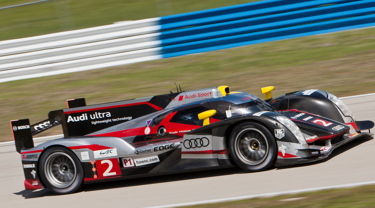 Overall race winning Audi Sport Team Joest R18