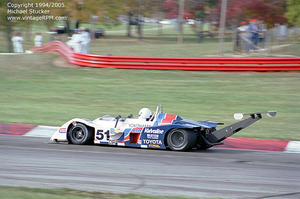 "A converted Ralt RT1 run as a CSR.<br /> <br /> ""Greg was an engineer at Lockheed,He showed me the data comparing a larger wing close to the rear wheels compared to the smaller wing cantilevered way back,the downforce was the same or a little more with the small wing but had a lot less drag. Greg got laid off from work and quit racing which is a shame because he was a good driver with a great mind.He took a small budget and beat the Tracers."" Ken Kaplowitz"