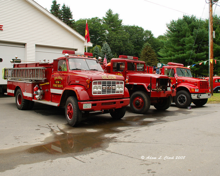Gilsum fire department trucks