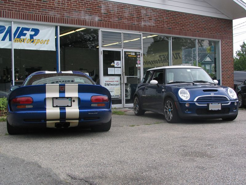 Dodge Viper with Hennessey Venom 650 package and a Mini Cooper S tuned by Turner Motorsport