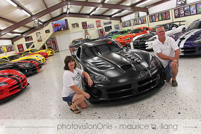 D'Ann and Wayne Rauh's collection of 55 Vipers.  August 2011.