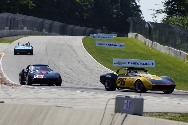 Brian Morrison and Doug Rippie historic lead Gib Hufstader vintage group