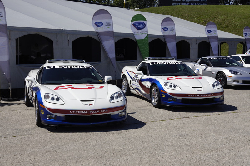 Road America official Corvette pace cars