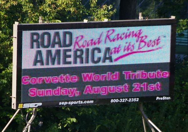 Corvette Tribute lights up Road America