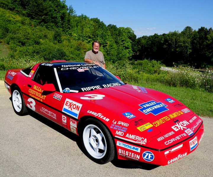 Bill Cooper, 1989 Corvette Challenge winner re-united with his Doug-Rippie prepped car brought be Lance Miller