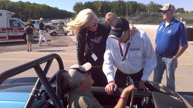 Bob and Pat Bondurant with Tony DeLorenzo