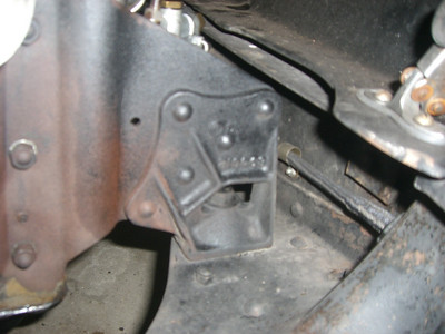 Detail of engine mount location.