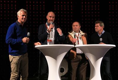 Christian Danner, Moderator Martin Cernan, Jochen Mass und Roland Asch.