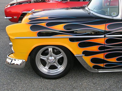 Black 1955 Chevrolet with Orange Flames (p8070524-C.jpg)