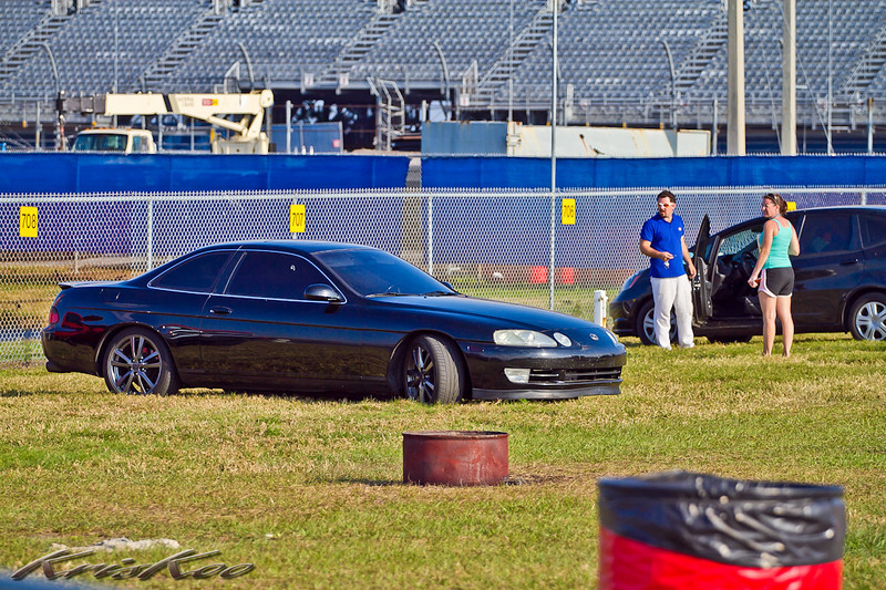 Who let this ugly car sneak into the infield?