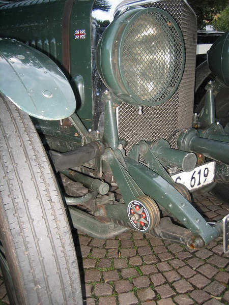 Shock absorbers on a old antique Rolls Royce