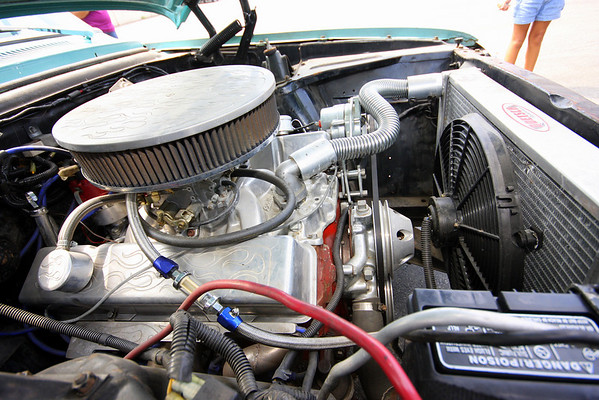 Original SS Chevy II came with a inline 6 cyl but I think this fits better:)