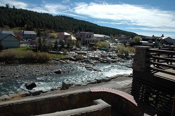 The Springs Resort, natural hot springs in downtown Pagosa Springs, along the San Juan River.