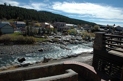The Springs Resort, natural hot springs in downtown Pagosa Springs, along the San Juan River.