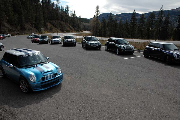 The NM MINIs arrived via U.S. 84 from Chama, NM, so they didn't get to drive Wolf Creek Pass, until now.