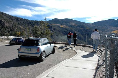 Wolf Creek Pass scenic overlook (west side).