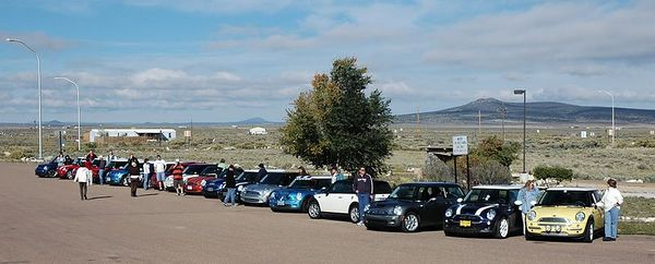 The lineup of MINIs from New Mexico, Colorado, Nevada, Arizona and Oklahoma. No Utah MINIs made the trip.