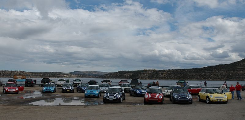 MINIs spanning several states at the Four Corners Monument. We arrived with less than 15 minutes remaining before closing the gates.