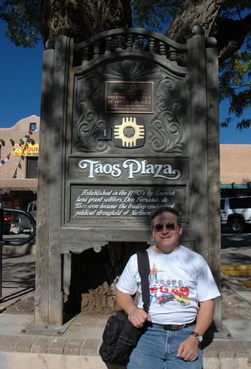 Rick, the New Mexico native, plays Taos Plaza tourist.