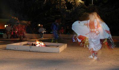 Taos Pueblo dancers.