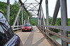 Day 3 (Thursday) on Highway 123, a one-lane bridge. No oncoming traffic. No traffic to speak of, for that matter. Very fun driving in the Ozarks.