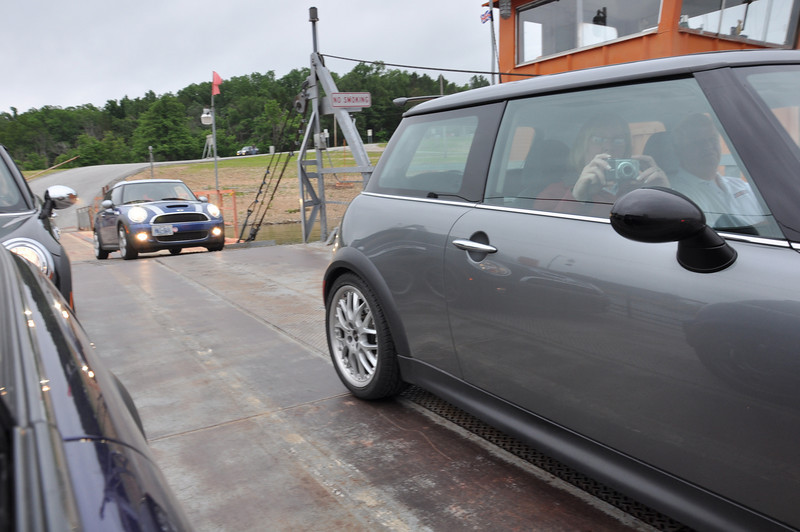 Peel's Ferry. A maximum of 8 MINIs were loaded onto the barge for the short ride.