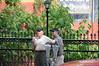 Hermann (left) and Brian enjoying ice cream cones in Eureka Springs, AR.