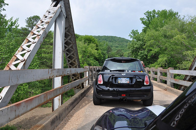 One lane bridge on Hwy 123. Run For The Ozarks, Arkansas.