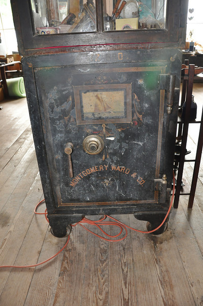 The original safe from the Stamps General Store in Osage, Arkansas. This store was built in 1901 and is on the national registry of historic buildings.