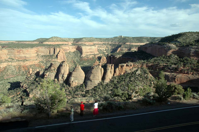 A scenic view at every turn on Colorado National Monument's Rim Rock Drive.