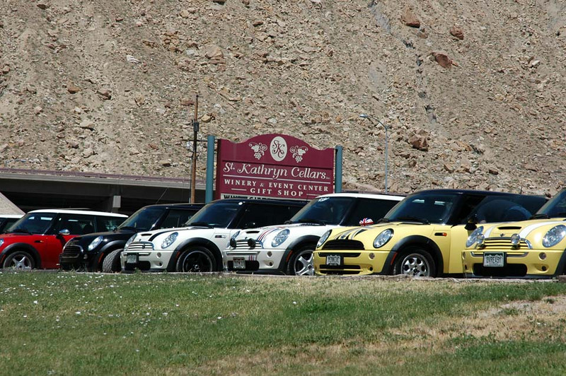 The MINIs arrive at the first winery in Palisade, just east of Grand Junction, just 240 miles from Denver.
