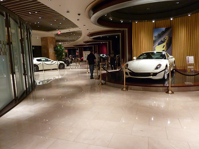 There was a Ferrari Dealership in the Wynn. It cost 10 bucks per person just to walk in and look. This was as far as I went.