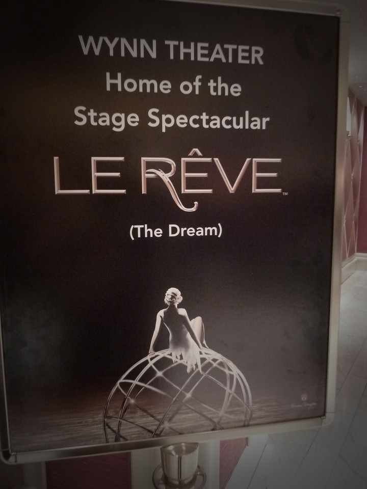 We also saw Le Reve. GREAT SHOW