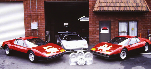 Ferrari 512 BB's purchased from Jacques Swaters, Lamborghini Countach from Roma.