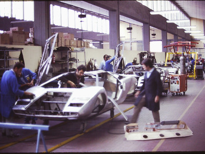 Lamborghini factory tour with Pete Coltrin and Bob Wallace