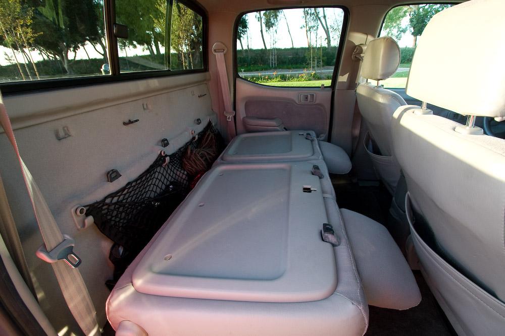 Rear seats folded down