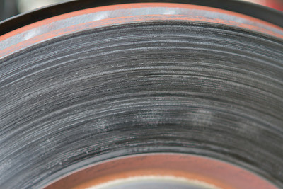 Close up of the front rotor surface, looks like good transfer, and I saw very little rotor wear