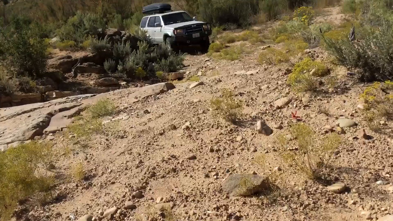 Video taken by Rich Mack.  This was on a road off the Montezuma Canyon road.  It wasn't anywhere near the toughest challenge the car faced during the trip, but this video is fun and does show off the power of the 4runner's 4 wheel drive.