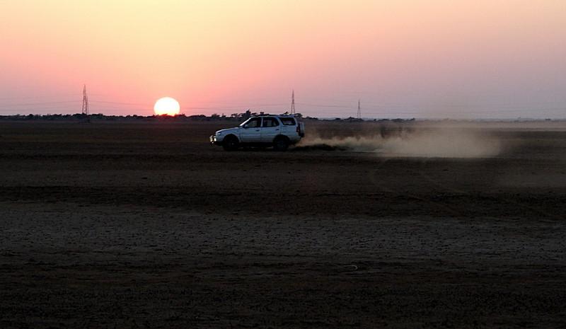 Drifting the Rann at Jaisalmer