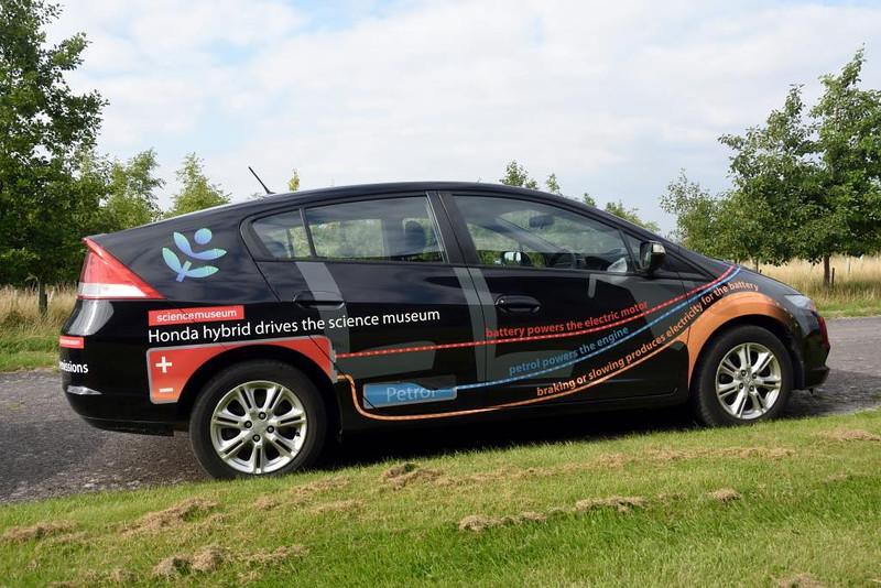 Honda Insight petrol-electric car, Science Museum store, Wroughton, Wiltshire, 9 September 2015.  Future Science Museum exhibit?