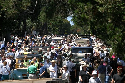 The streets of Carmel were packed during the 50-mile drive.