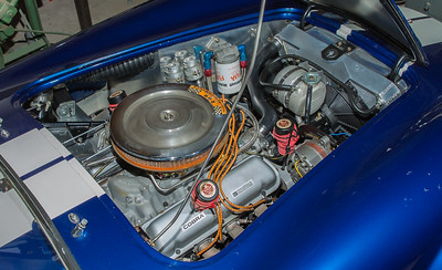 1964 AC Shelby 289 Cobra engine at Madison Zamperini Collection