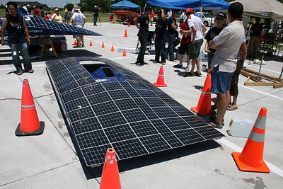 Solar Cars in Plano - July 2008